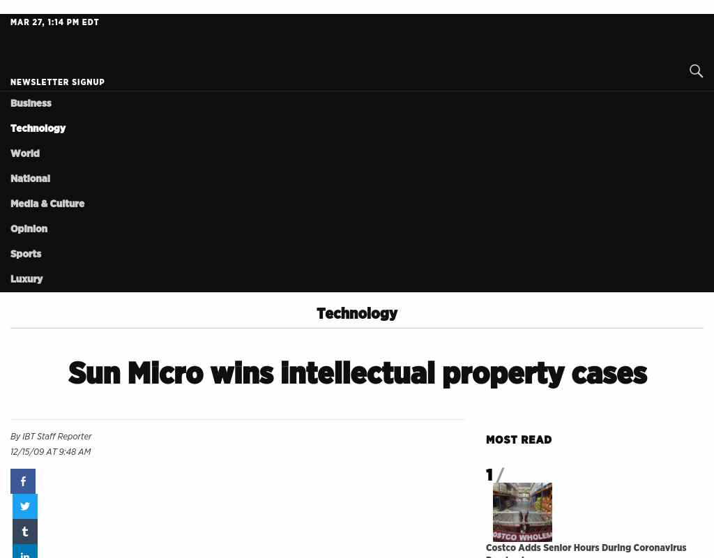 Sun Micro wins intellectual property cases - SVBB Law Offices
