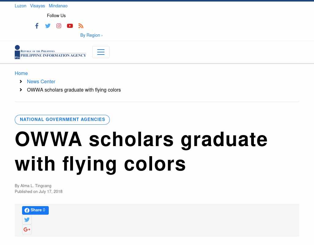 OWWA scholars graduate with flying colors - SVBB Law Offices