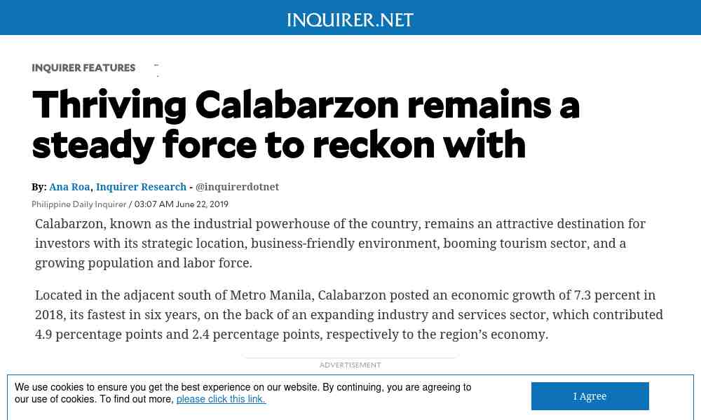 Thriving Calabarzon remains a steady force to reckon with
